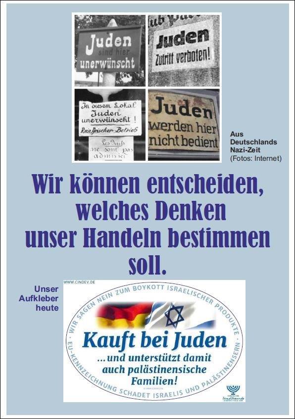 Poster:Wirkönnen entscheiden, ob Juden in unserer Gesellschaft wieder ausgestoßen werden oder dazu gehören.